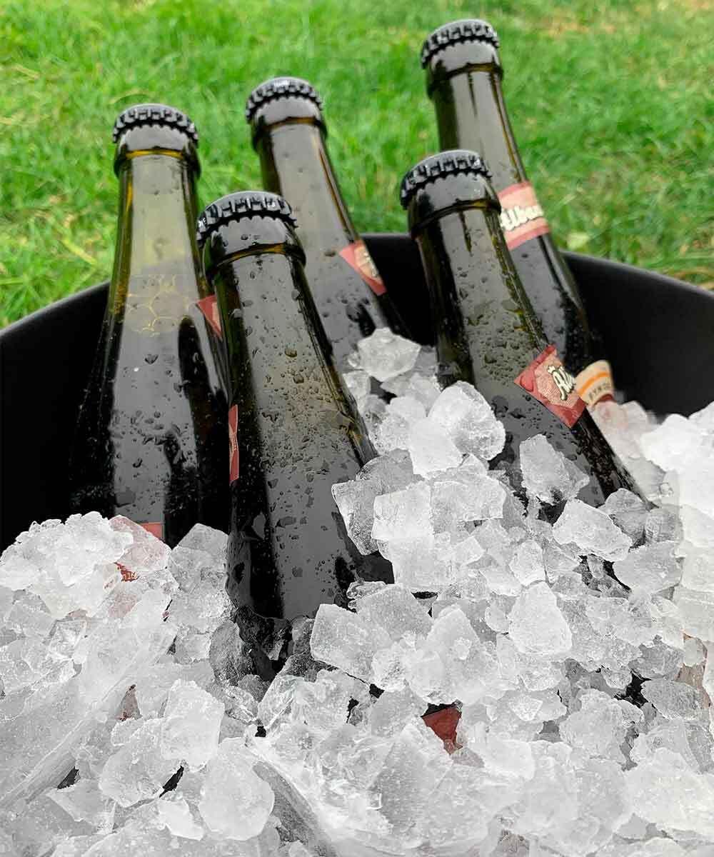 Knust is på Fyn - Køl øl med knust is